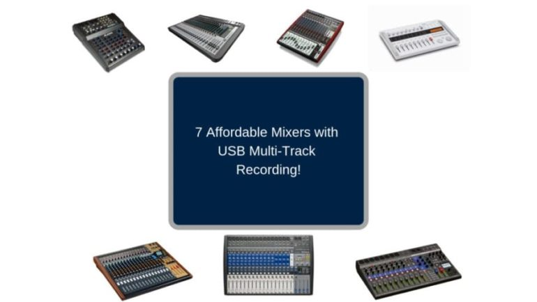 7 Affordable Mixers with USB Multi-track Recording! - The