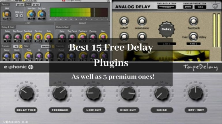 Best 15 Free Delay VST Plugins that Actually Sound Great