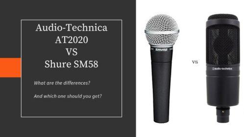 Audio-Technica AT2020 vs Shure SM58!