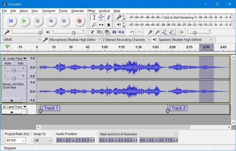 Audacity is a great free audio recording/editing software