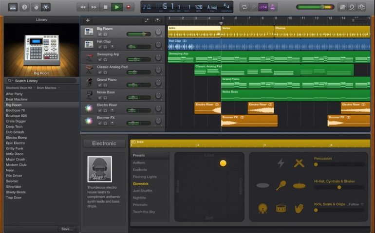Garageband is a free audio/editing software only available for Mac OS.