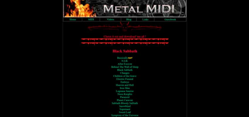 Heavy metal midi files download torrent