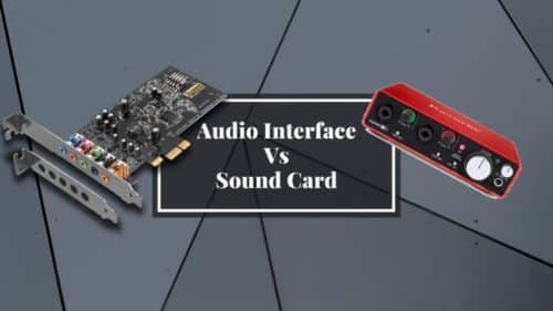 Audio Interface vs Sound card; What are the differences?